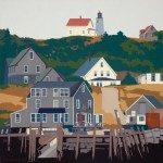 Monhegan from Manana. 12 x 12 inches, Limited Edition Giclee Print. Framed $300. Unframed $150.