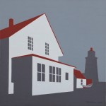 Grey Lighthouse. 12 x 12 inches, Limited Edition Giclee Print. Framed $300. Unframed $150.