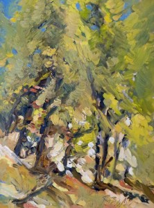 "Cathedral Woods, 16"" x 12"", Oil, $1600."