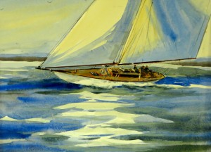 "Fair Winds, 15"" x 21"", Watercolor, $2600."